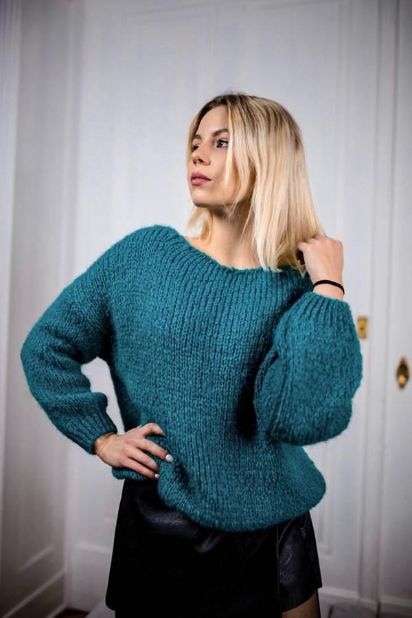 Bardzo miękki morski sweter