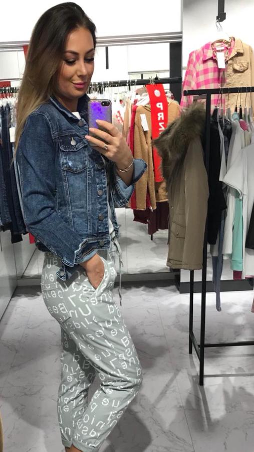 Bardzo wygodna elastyczna kurtka jeansowa M