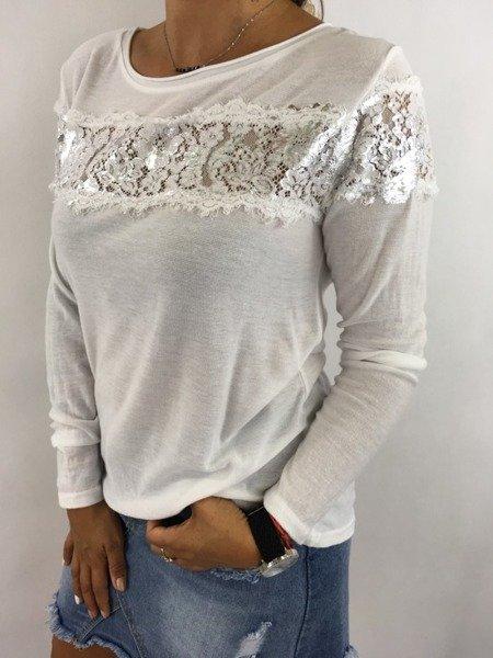 Bluzka biała koronlka