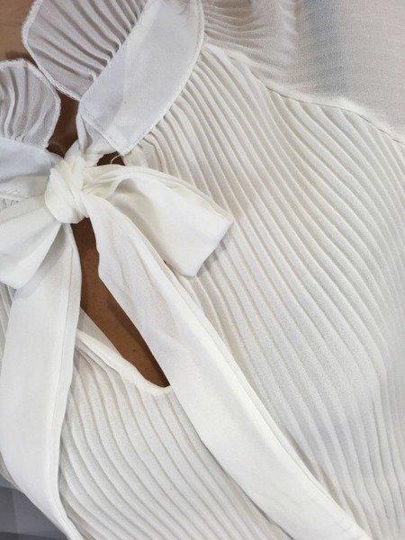 Bluzka biała plisowana