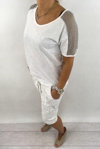 Bluzka biała z siateczką