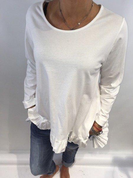 Bluzka falbany biała