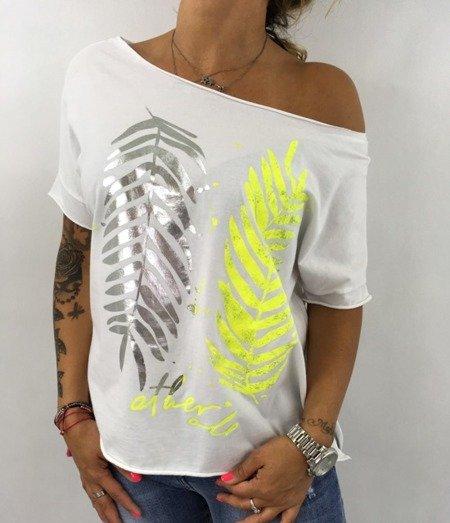 Bluzka liść palmy biała