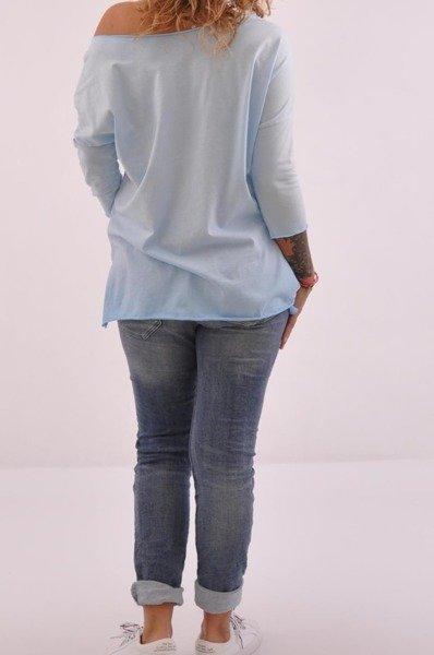 Bluzka niebieska z orłem.