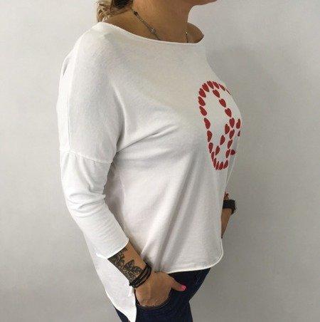 Bluzka pacyfka serca biała