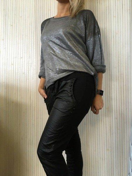 Bluzka szara ze srebrem
