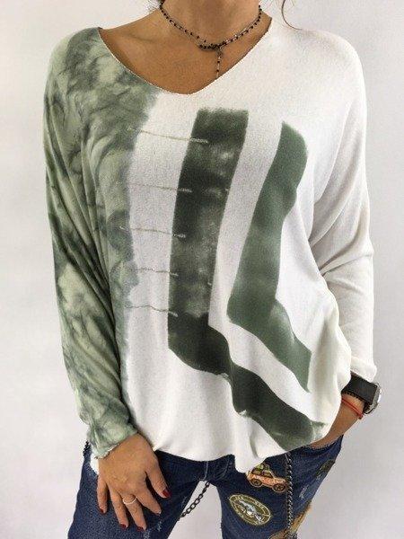 Bluzka wzór zielona