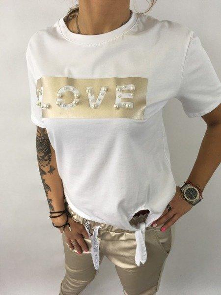 Bluzka złote love