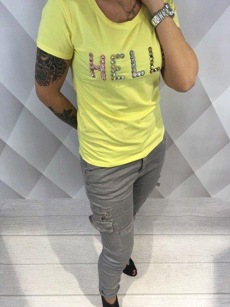 Bluzka żółta z napisem hello S/M