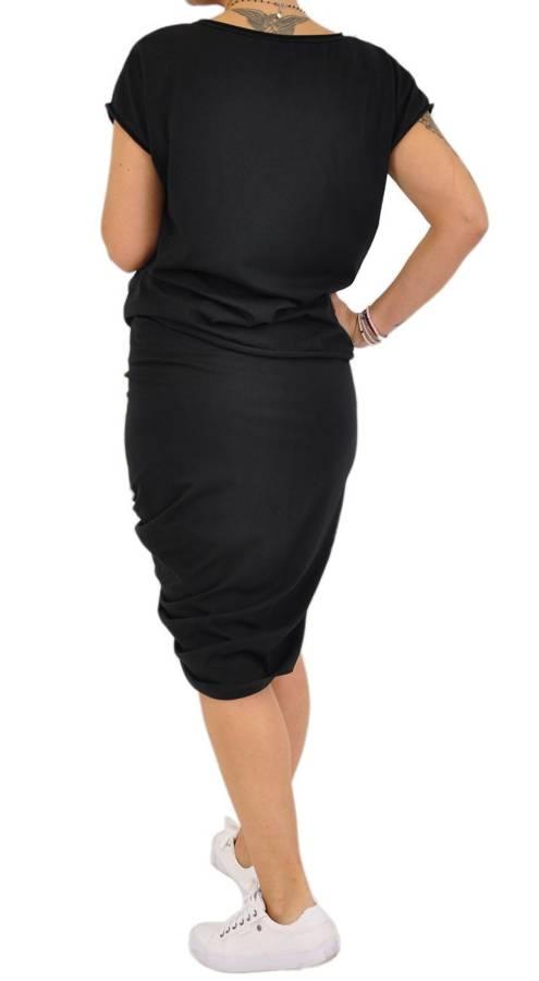 Czarny komplet- bluzka i asymetryczna spódnica