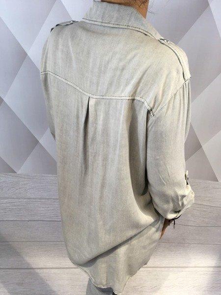 Koszula szara z pagonami