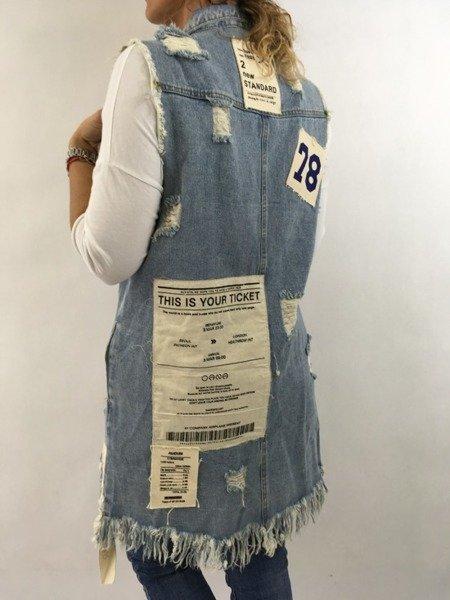 Kamizelka jeansowa L/XL