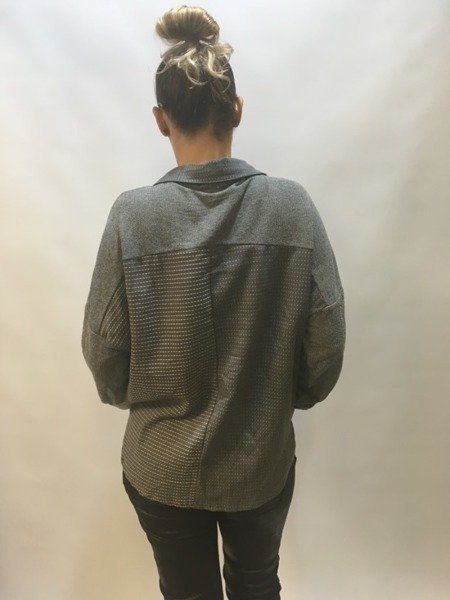 Koszula szara w kratkę