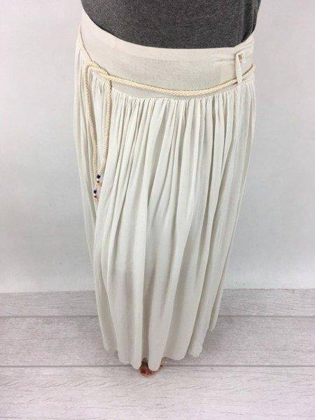 Spódnica długa ecru.