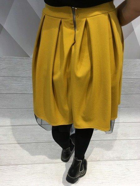 Spódnica miodowa z tiulem