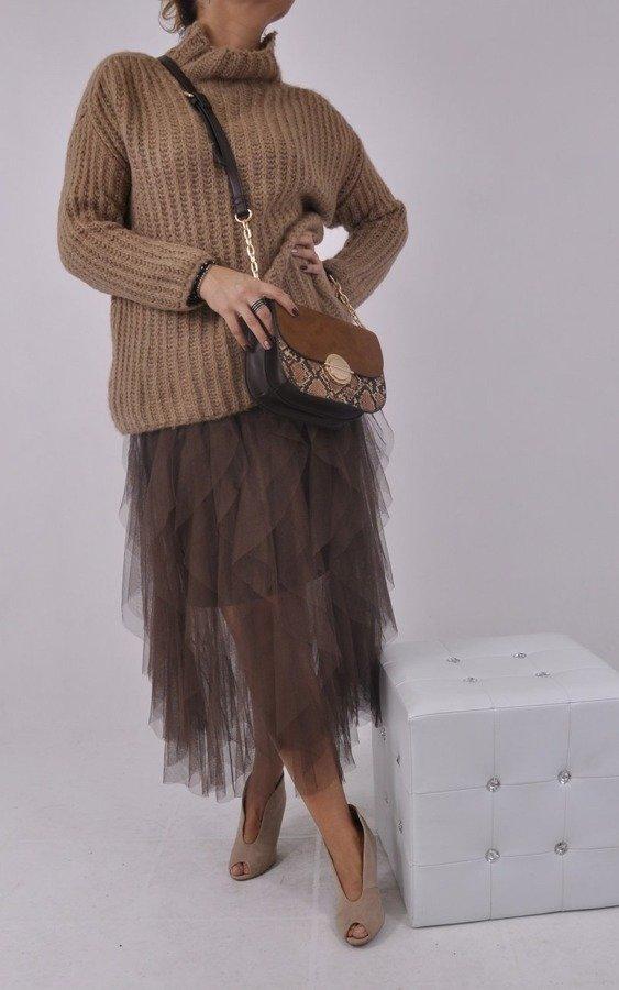 Spódnica tiulowa brąz