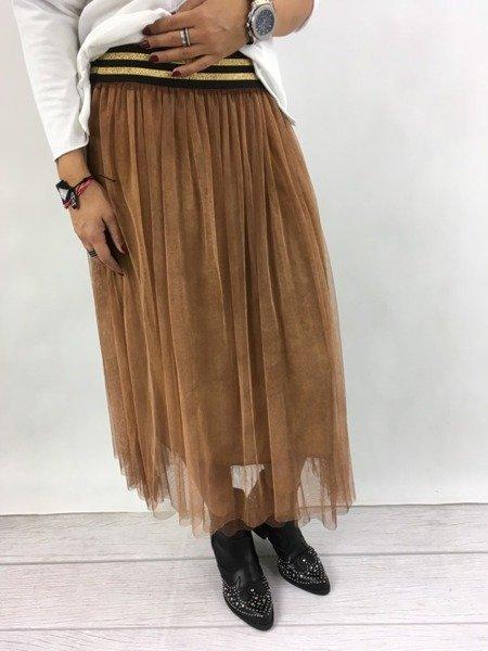 Spódnica tiulowa brązowa