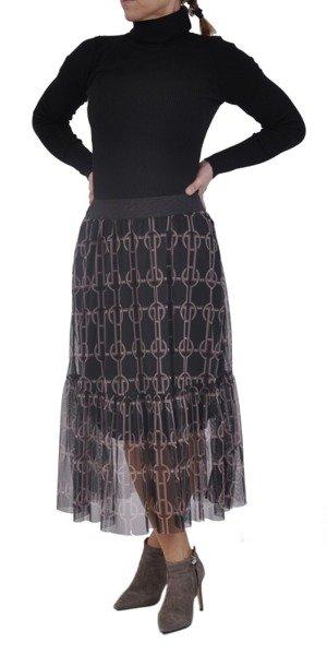 Spódnica tiulowa z falbaną wzór