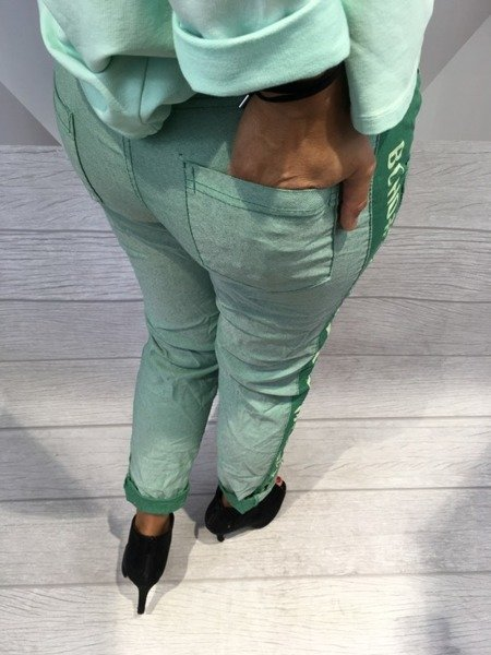 Spodnie boho zielone