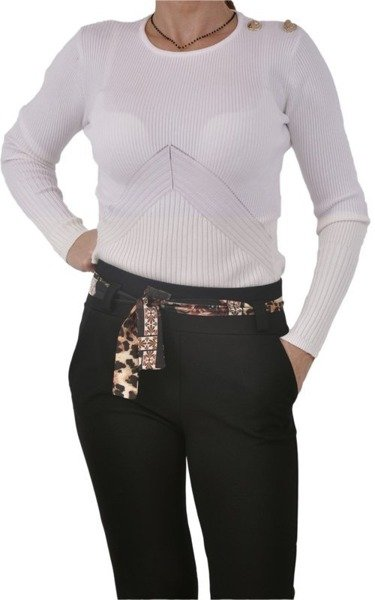 Spodnie czarne z paskiem M