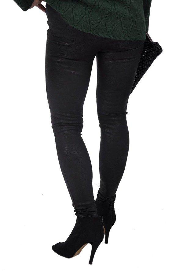 Spodnie leginsy czarne przetarte M