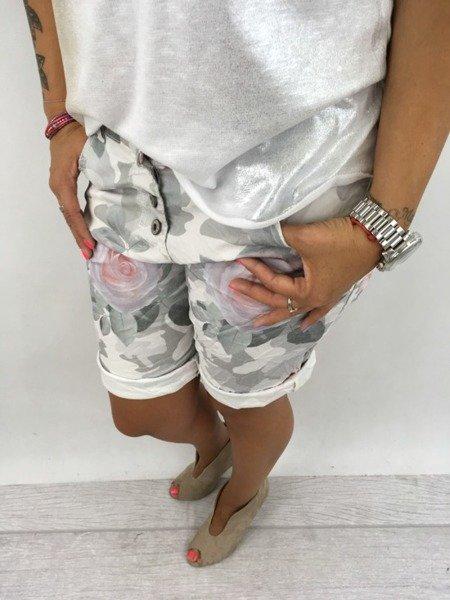 Spodnie moro róże S