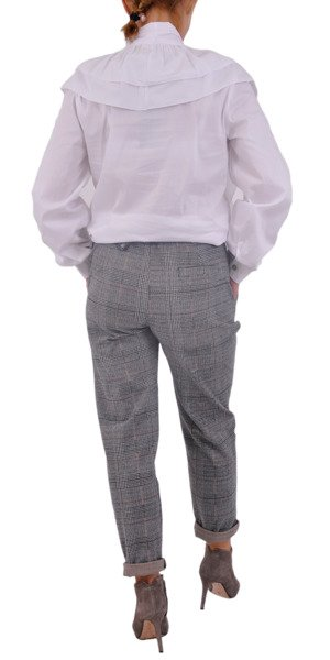 Spodnie popiel krata