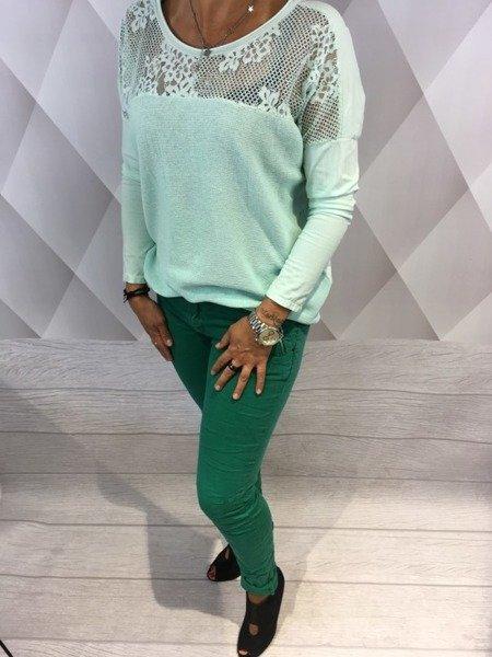 Spodnie rurki zielone S