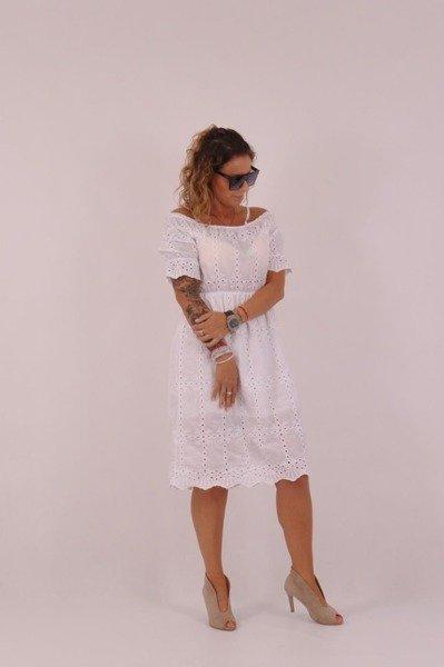 Sukienka biała koronka