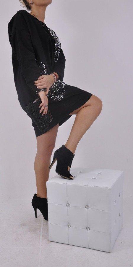 Sukienka czarna cekiny