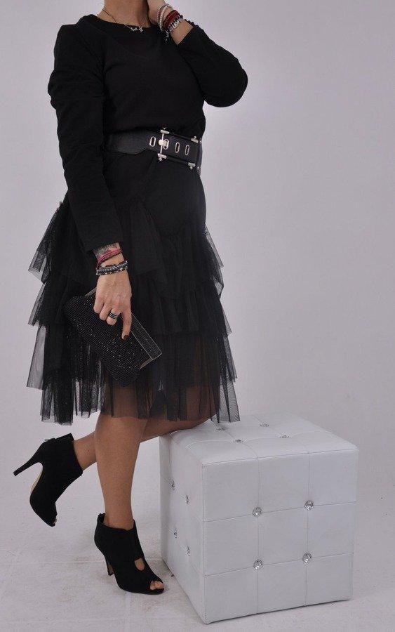 Sukienka czarna falbany
