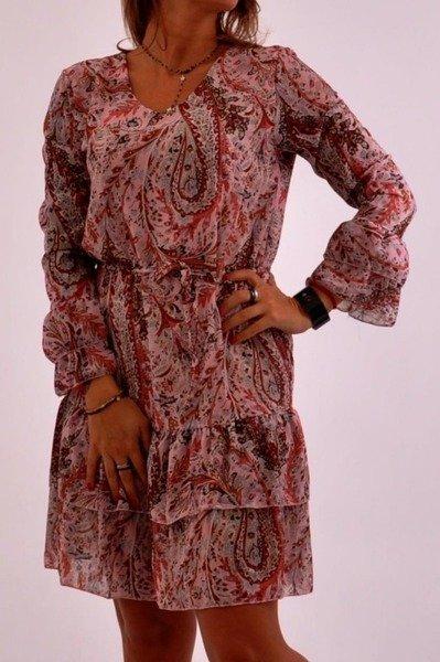 Sukienka jasny róż wzór