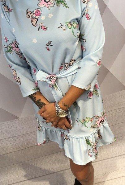 Sukienka kwiaty niebieska