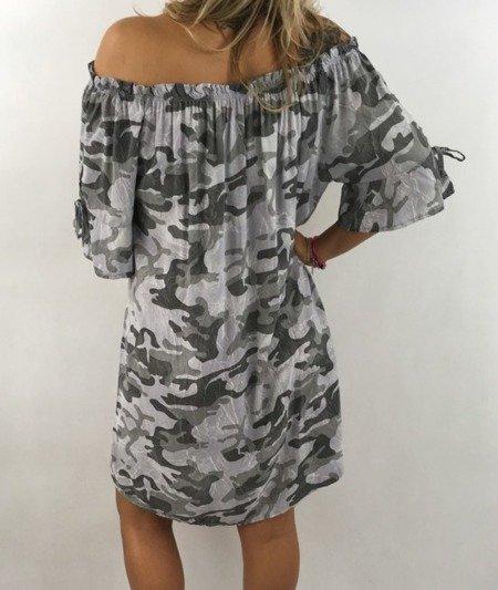 Sukienka szara moro