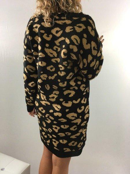 Sukienka wzór czarna zimowa