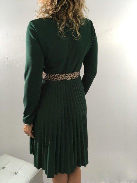 Sukienka zielona plisy święta