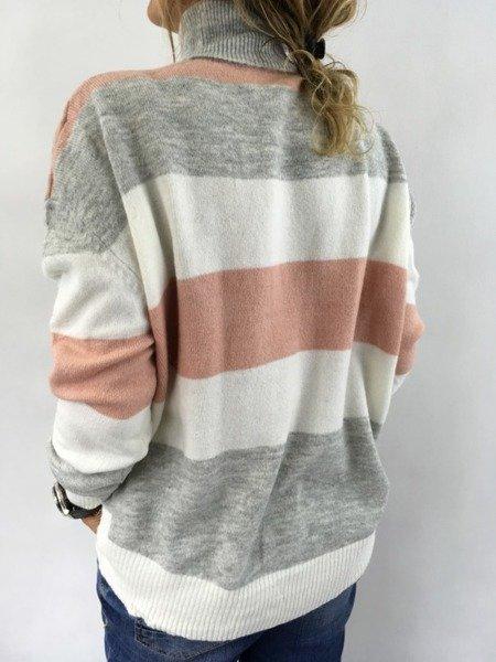 Sweter golf paski