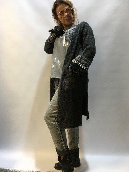 Sweter narzuta grafit