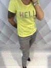 Bluzka żółta z napisem hello M/L.