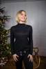 Cudowny czarny sweterek z poświatą