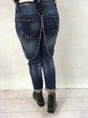 Spodnie jeans z naszywkami S