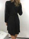 Sukienka plisowana dekolt święta czarna