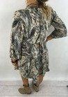 Sukienka wzór zwierzęcy pióra beż